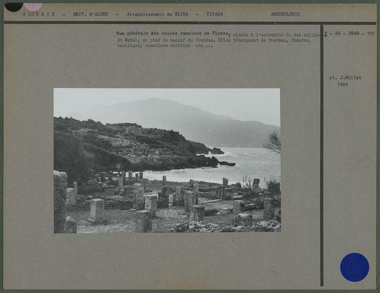 Vue générale des ruines romaines de Tipasa