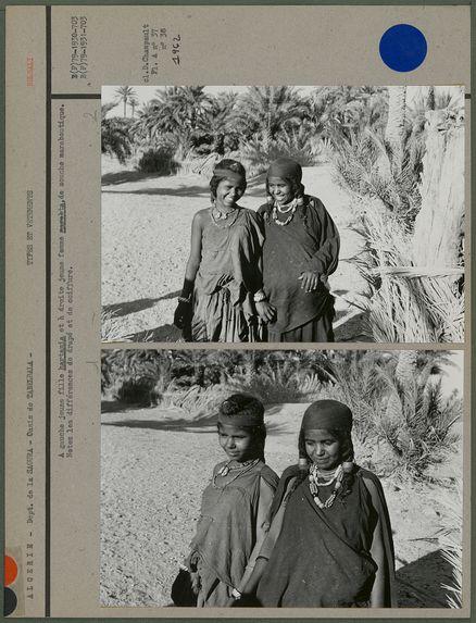 Jeune fille hartania et  jeune femme marabta