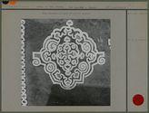 Motif décoratif en argile de couleurs opposées