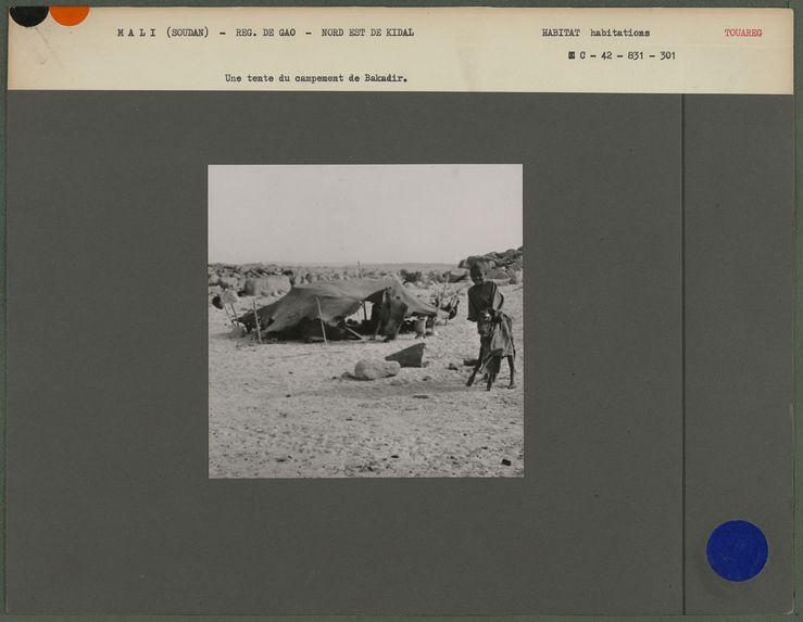 Une tente du campement de Bakadir