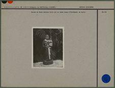 Statue de Saint Antoine faite par un jeune homm