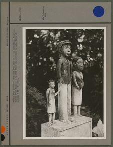 Détail d'un monument funéraire d'un chef de tribu catholique