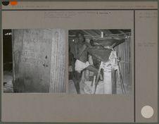 """La porte du moulin à manioc, baptisé """"machine à fou-fou&quot"""