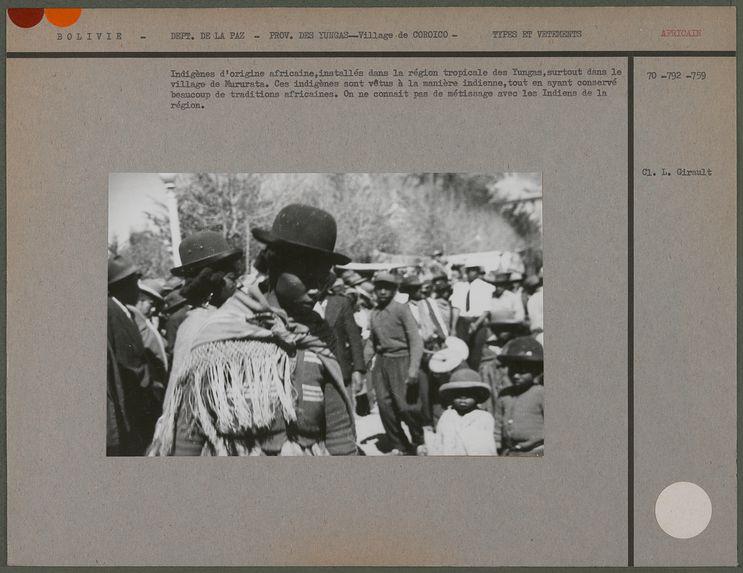 Indigènes d'origine africaine
