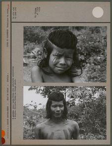 Jeune home Kraho avec peintures corporelles