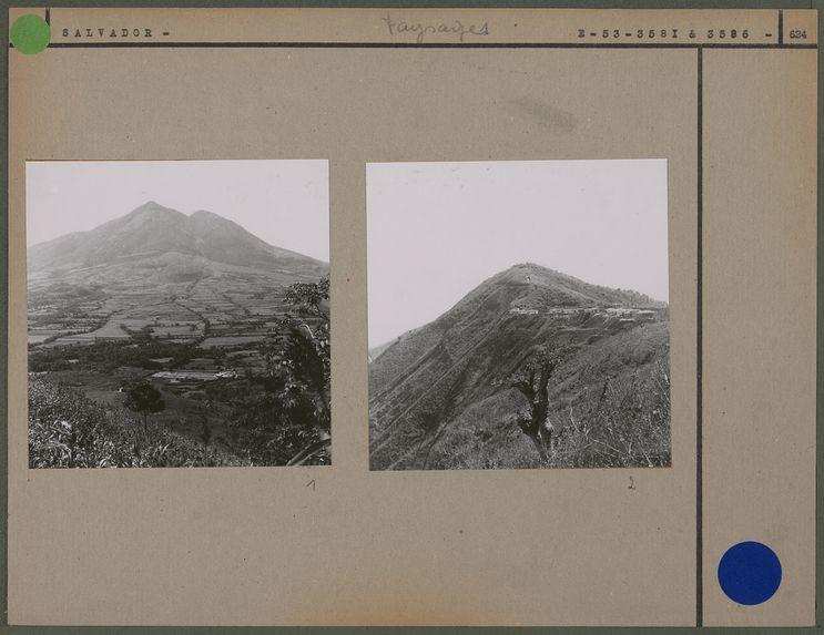 Paysage entre San Salvador et Santa-Maria