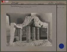 Maquette de la chambre souterraine du temple des Guerriers