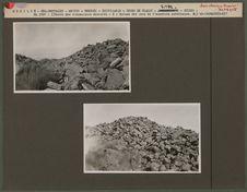 En 1927 : entrée des ruines, murs écroulés [Cerro de Tlaloc]