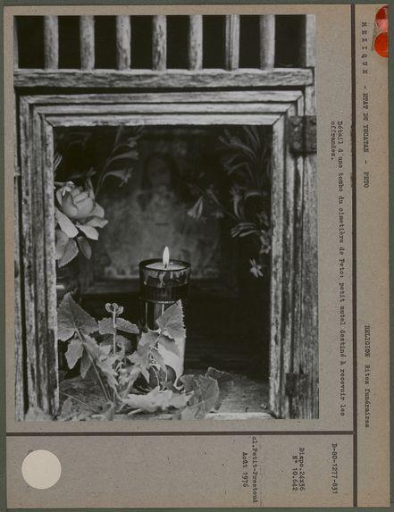 Détail d'une tombe d'un cimetière