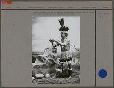 Indien Chumash, avec arc et flèches