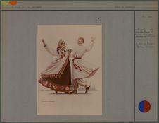 Couple de danseurs [costumes lettons]