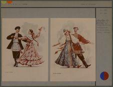 Couple de danseurs [costumes russes]