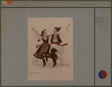 Couple de danseurs [costumes moldaves]
