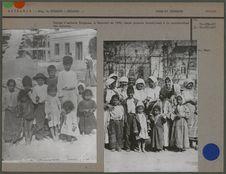 Groupe d'enfants tziganes à Bucarest en 1900