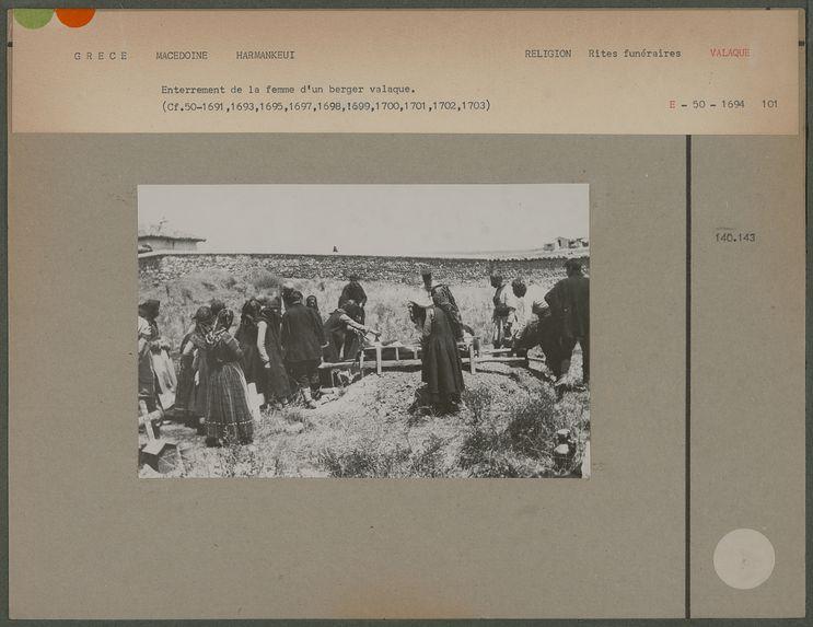 Enterrement de la femme d'un berger valaque