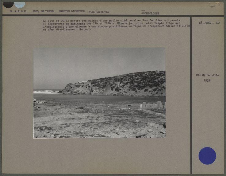 Le site de Cotta montre les ruines d'une petite cité romaine