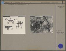 Peintures rupestres : chameaux etc.