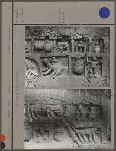 Bas-relief sur le mur d'un temple