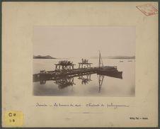 Nouméa, les travaux du quai : charpente de prolongement