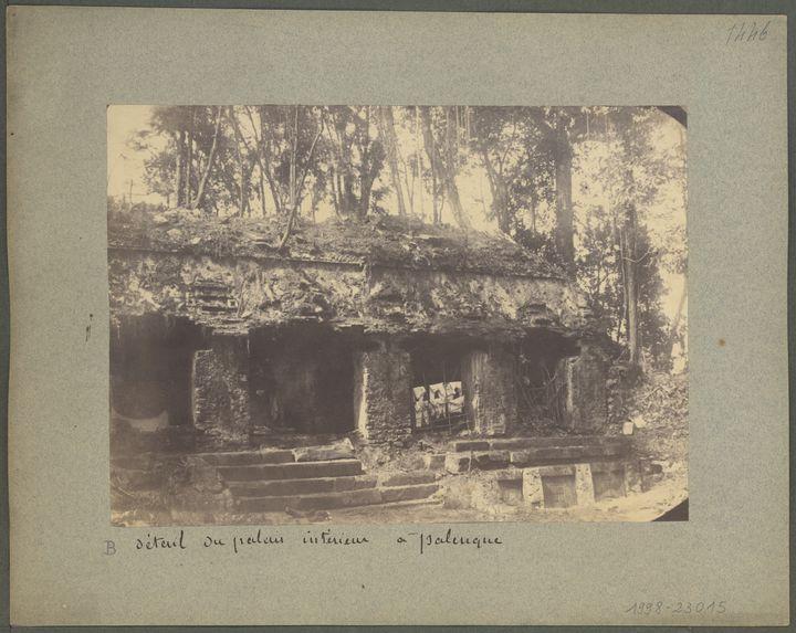 Détail du palais intérieur à Palenque
