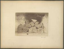 Enduits en ciment peint, des ruines de Tula