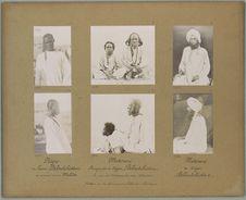 Mekrani [portrait de profil d'un garçon et d'un homme assis]