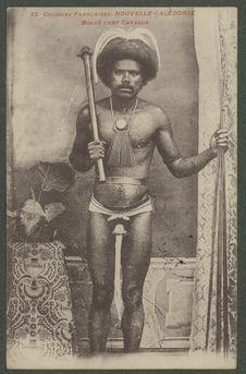 Colonies Françaises. Nouvelle-Calédonie. Bondé, chef Canaque