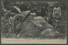 Borabora (Iles sous le vent de Tahiti). Pierre historique (Epoque des migrations...