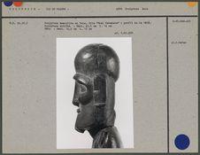 """Sculpture masculine en bois """"Moai Kavakava&quot"""