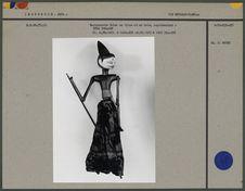 Marionnette Golek en tissu et bois