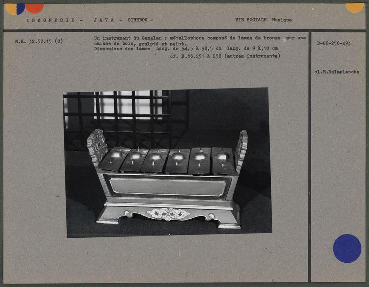 Instrument du Gamelan : métallophone