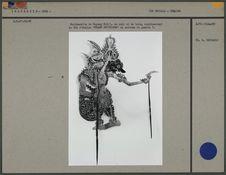 Marionnette de Wayang Kulit : Roi d'Aslino
