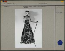 Marionnette Golek en tissu et en bois