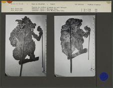 Figures de théâtre d'ombres malais Wayang Jawa : Raksasa Maharaja Bota et...