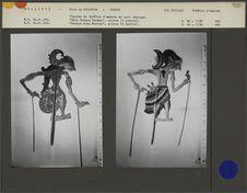 Figures de théâtre d'ombres malais Wayang Jawa : Princes Deva Batara Norega et...
