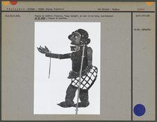 Figure de théâtre d'ombres : figure de bouffon