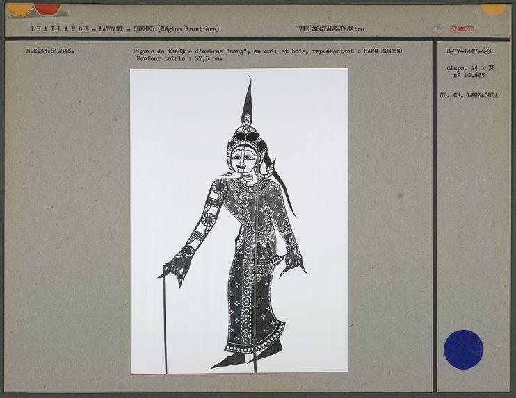 Figure de théâtre d'ombres : Nang Montho