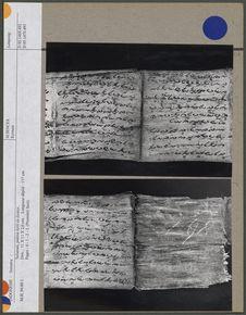 Salaman, poème écrit sur écorce
