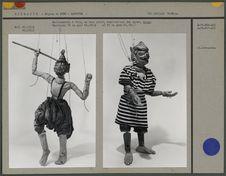 Marionnette à fils en bois peint : ogre