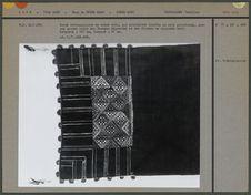 Bande rectangulaire en coton brodé