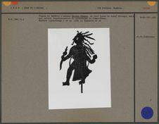 Figure de théâtre d'ombres : femme-démon
