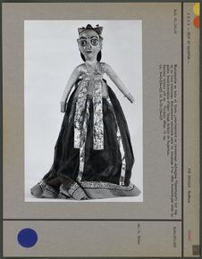 Marionnette : personnage androgyne, face féminine