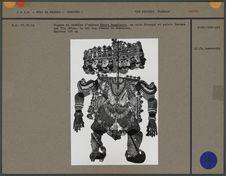 Figure du théâtre d'ombres : Ravana aux dix têtes
