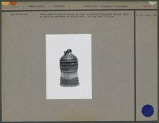 Boîte à chaux cylindrique en bronze