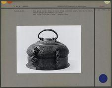 Grande boîte à bétel en cuivre étamé