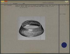 Bracelet de cheville, fil d'argent tressé