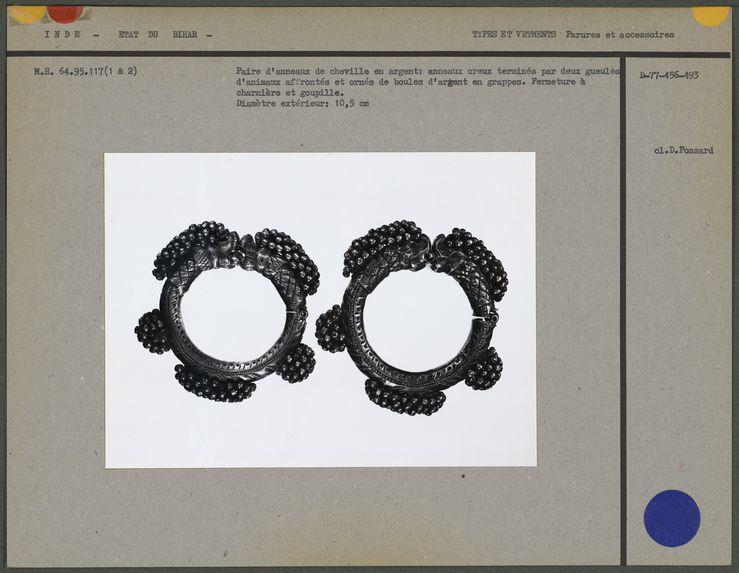 Paire d'anneaux de cheville en argent