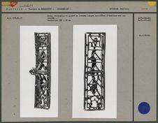 Sceau rectangulaire ajouré en bronze