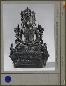 Statue de Bodhisattva en bronze