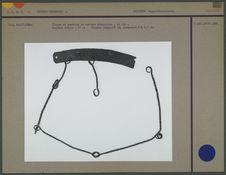 Plaque et pendants de costume chamanique